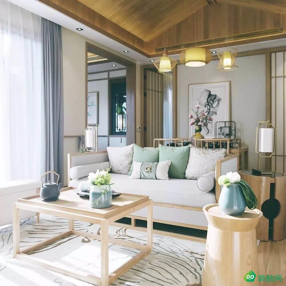 佛山191平米中式風格四室兩廳裝修效果圖-盛唐麗筑裝飾
