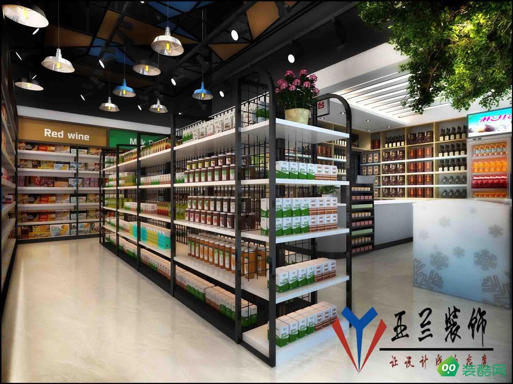 合肥零食店装修,食品店装修,便利店装修设计。