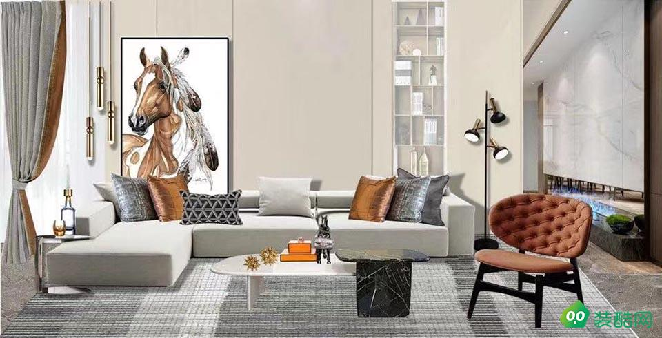 佛山140平米現代風格四室兩廳裝修效果圖-鏘美裝飾