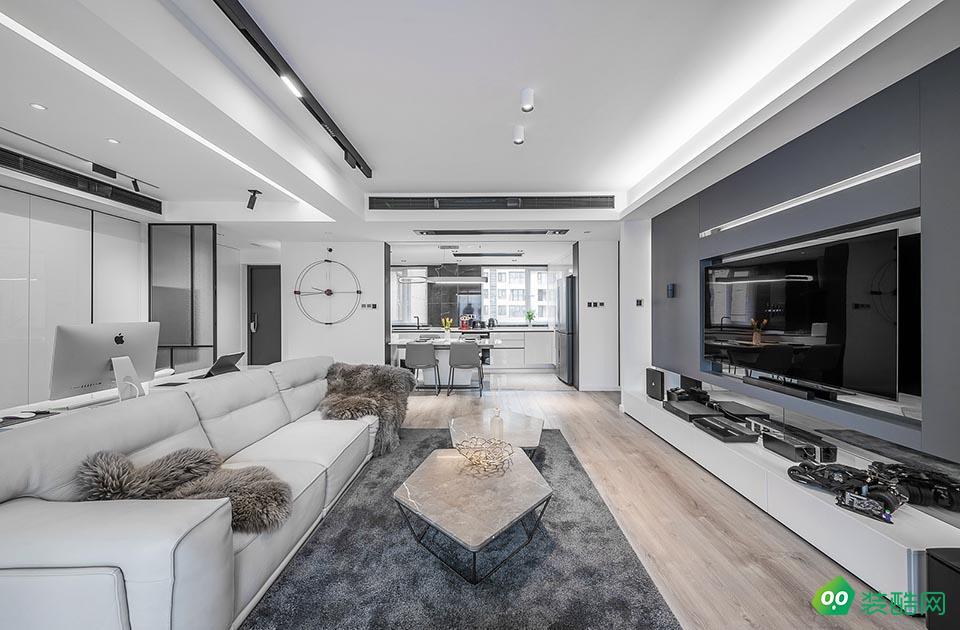 湘潭164平米現代簡約風格四室兩廳裝修效果圖-星藝裝飾