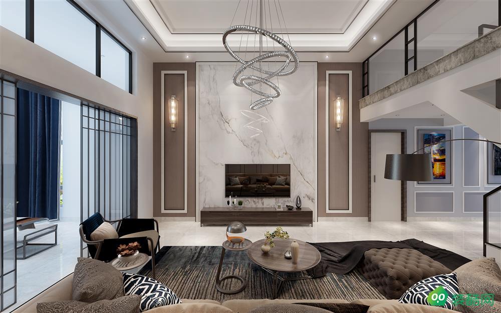 昆明滇池衛城150平米現代風格家居大師裝修案例