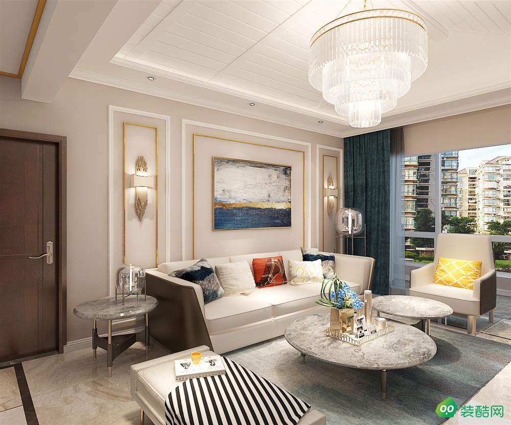 昆明海東俊園400平米輕奢風格家居大師裝飾案例分享