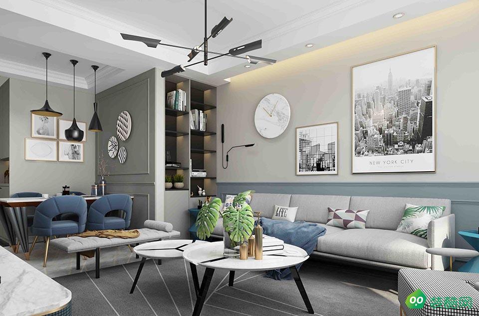 佛山148平米東現代風格四室兩廳裝修效果圖-金筑裝飾