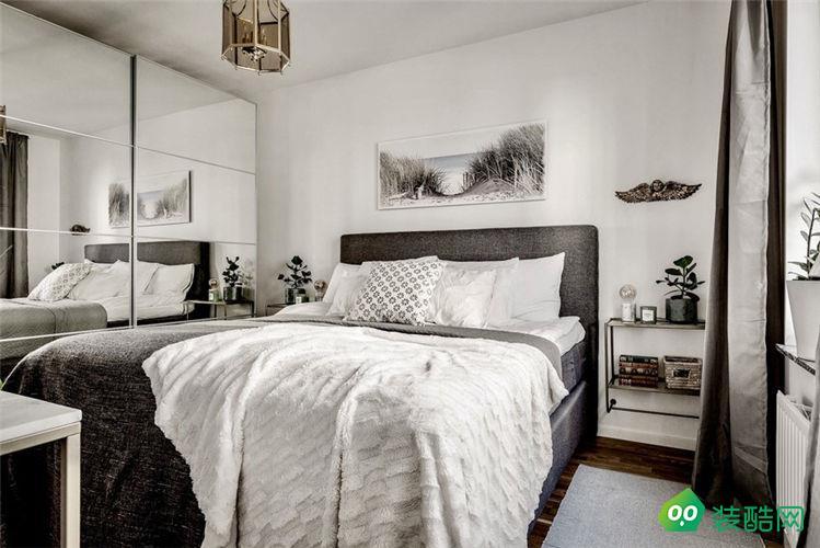 60㎡小戶型北歐風格兩居室舊房翻新改造案例