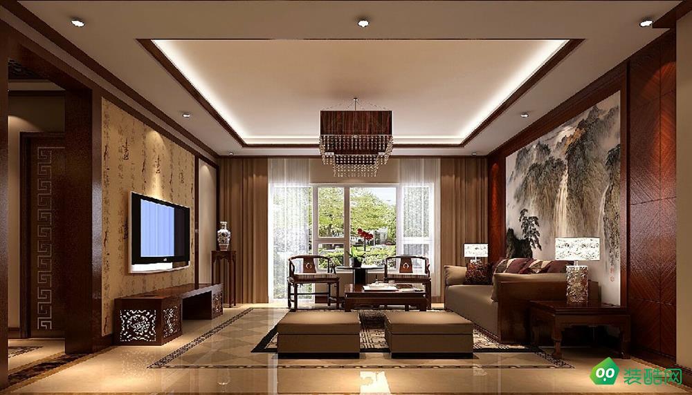 佛山168平米中式風格四室兩廳裝修效果圖-千鳥裝飾
