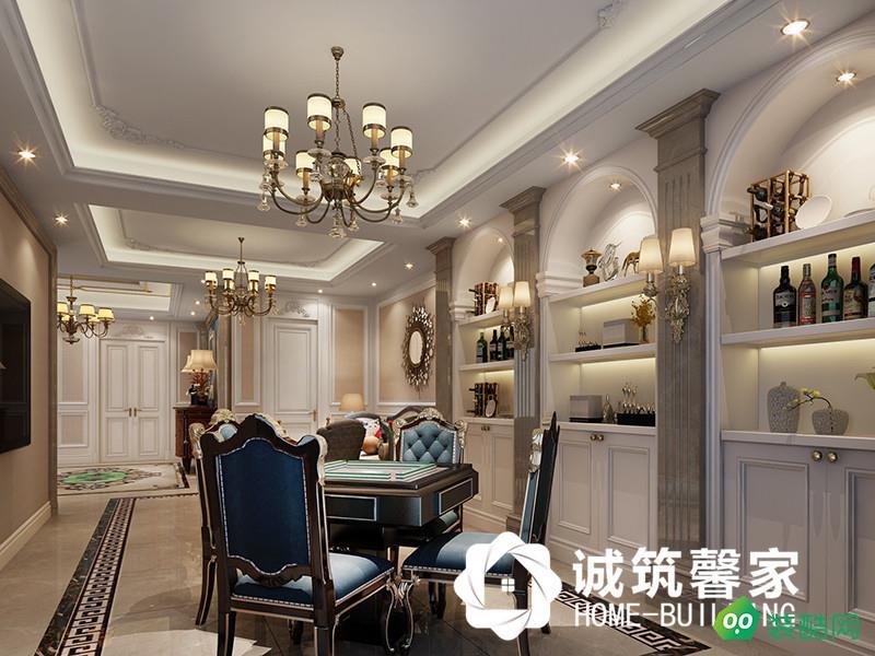 南京五礦九璽臺289㎡美式裝修效果圖