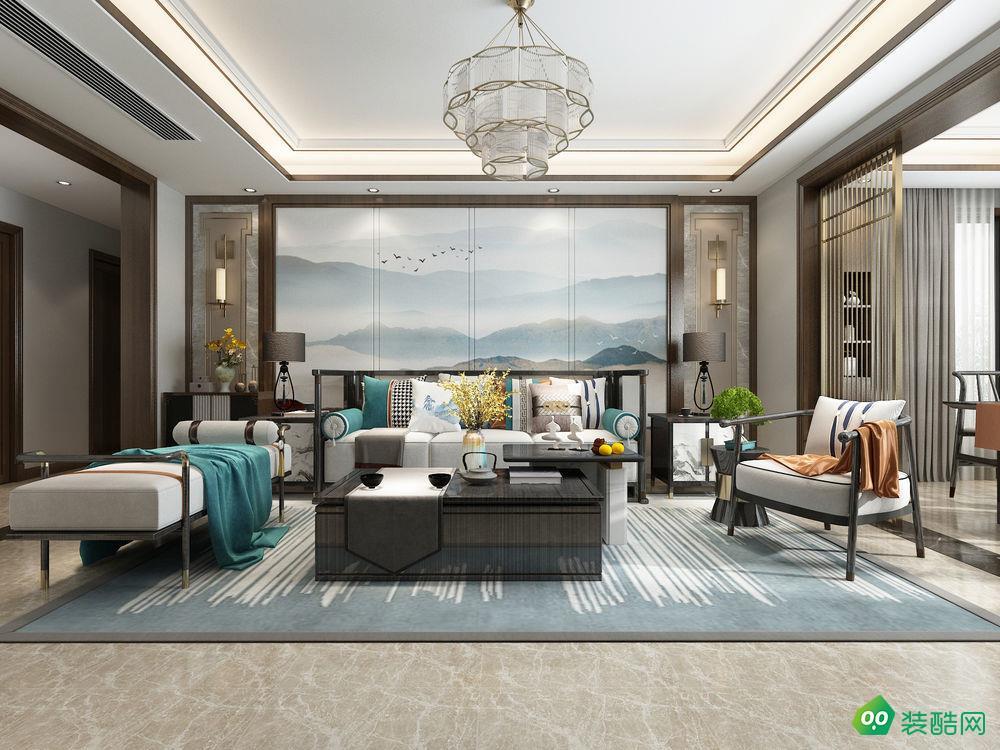 寶雞165平米中式風格四室兩廳裝修效果圖-齊江裝飾