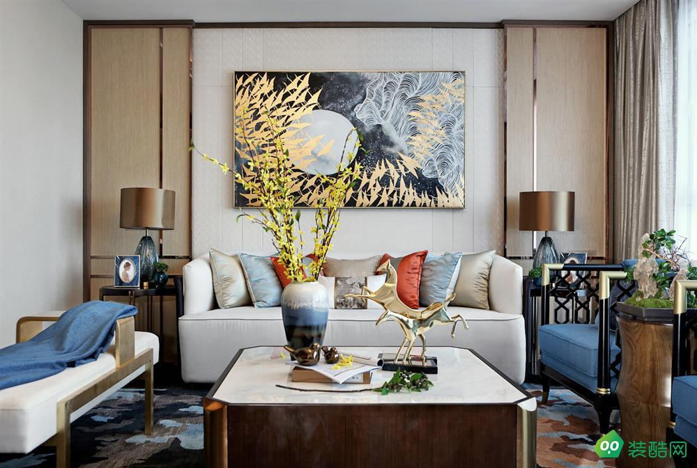 寶雞150平米中式風格四室兩廳裝修效果圖-齊江裝飾