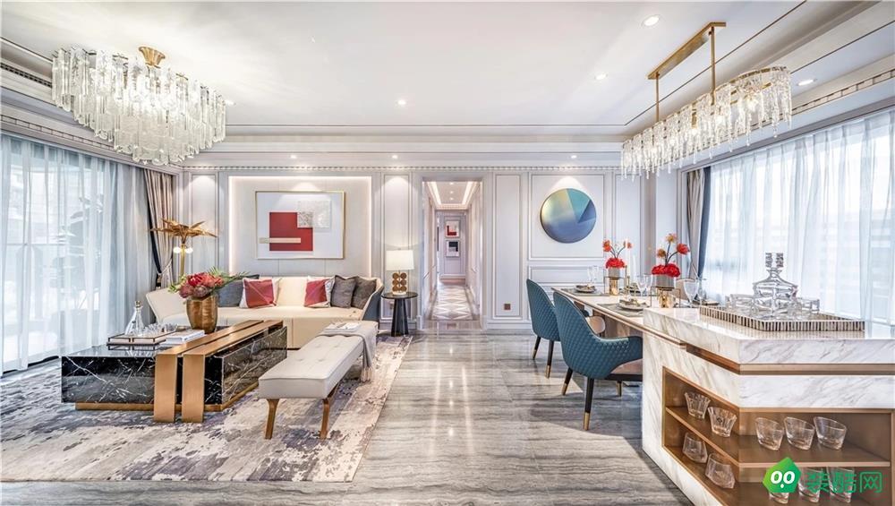 寶雞140平米現代風格四室兩廳裝修效果圖-齊江裝飾