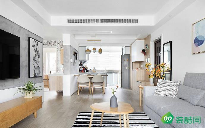 佛山89平米歐式風格兩室一廳裝修效果圖-興源裝飾
