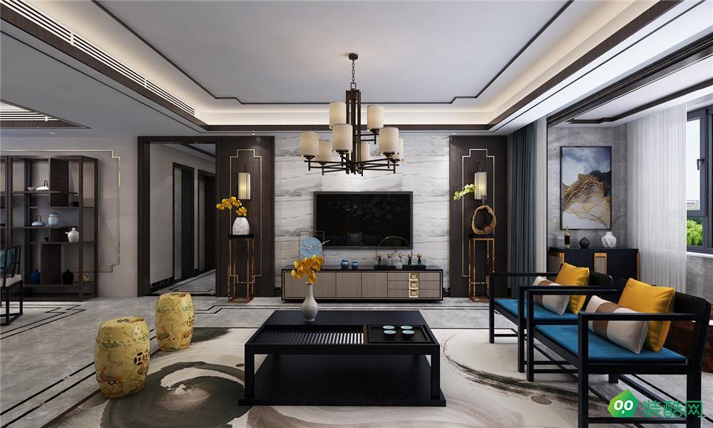 佛山179平米中式風格四室兩廳裝修效果圖-果道裝飾