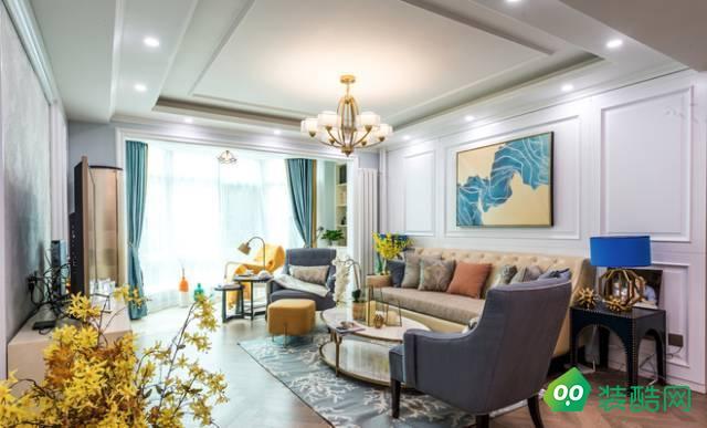 宁波美式三居室120平装修案例