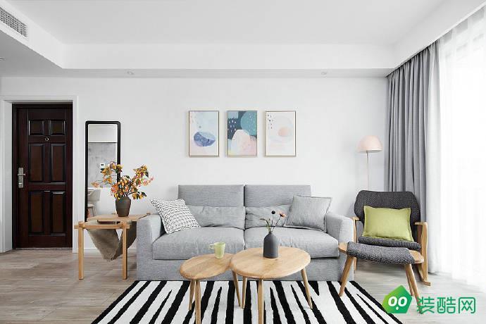 佛山89平米歐式風格兩室一廳裝修效果圖-果道裝飾