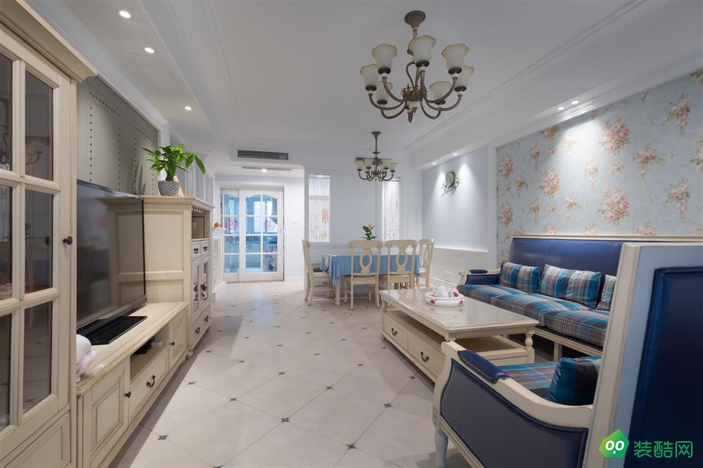 佛山128平米美式风格三室两厅装修效果图-弘鼎装饰