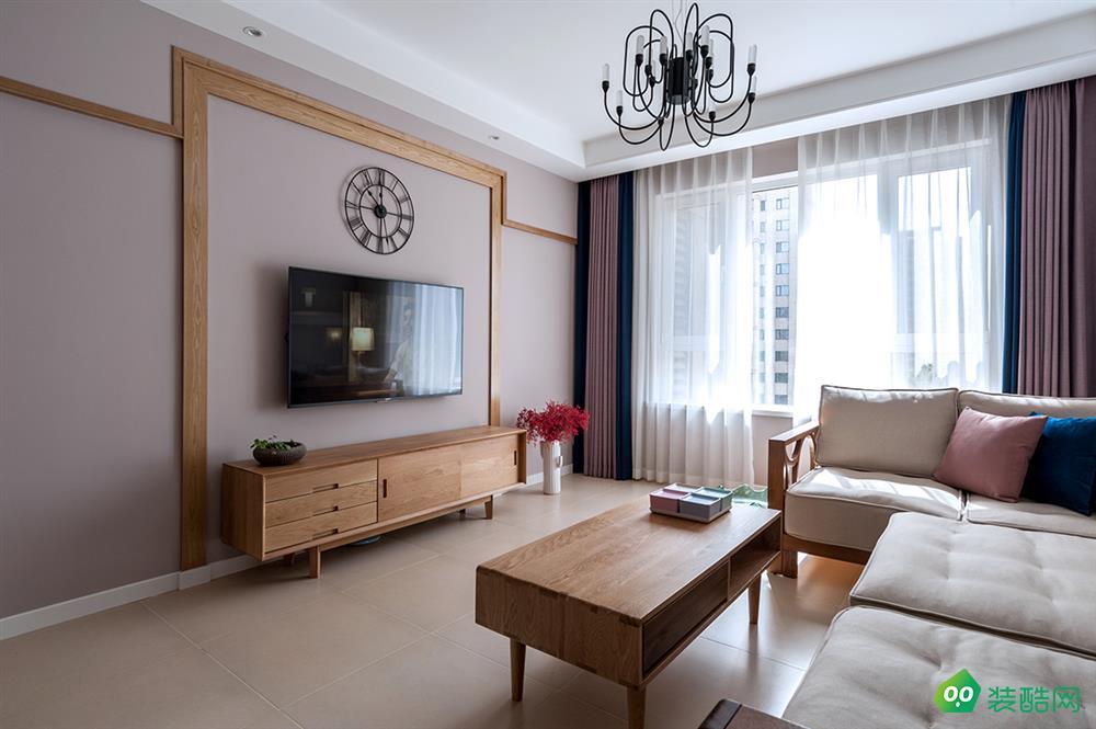 佛山120平米北歐風格三室一廳裝修效果圖-弘鼎裝飾
