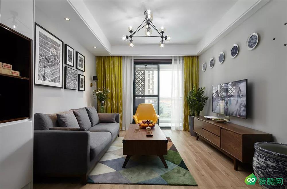 達州70平米北歐風格兩室兩廳裝修案例圖片-智家裝飾