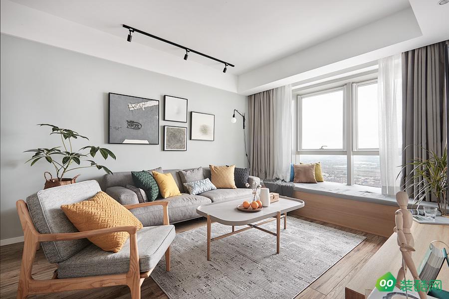 達州90平米北歐風格兩居室裝修案例圖片-智家裝飾