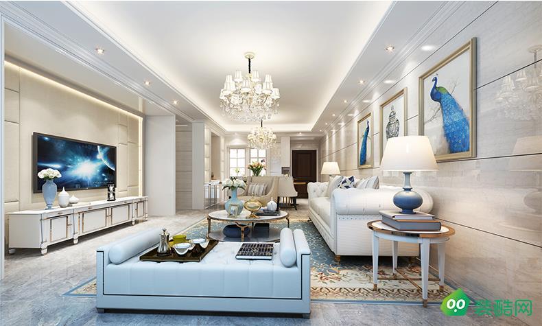大连96平米美式风格三室两厅装修案例图片-铭匠装饰