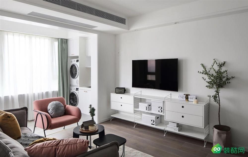 大連95平米北歐風格三室兩廳裝修案例圖片-伍億裝飾