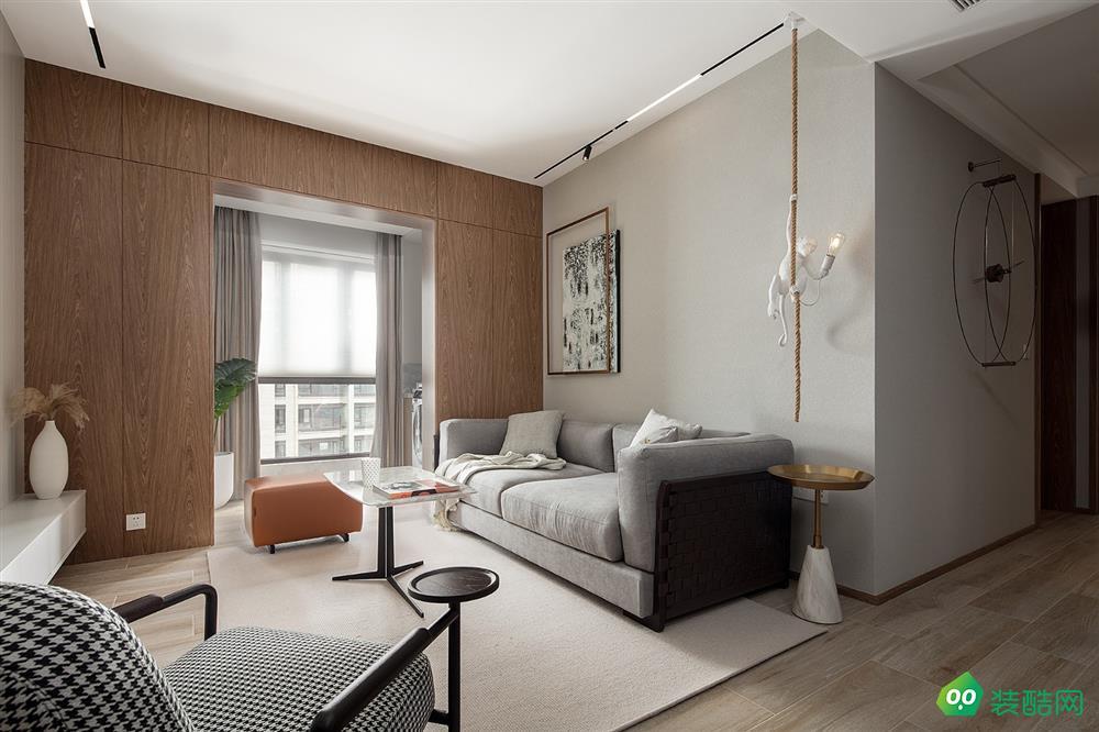 潼南北歐風格二居室85平裝修案例