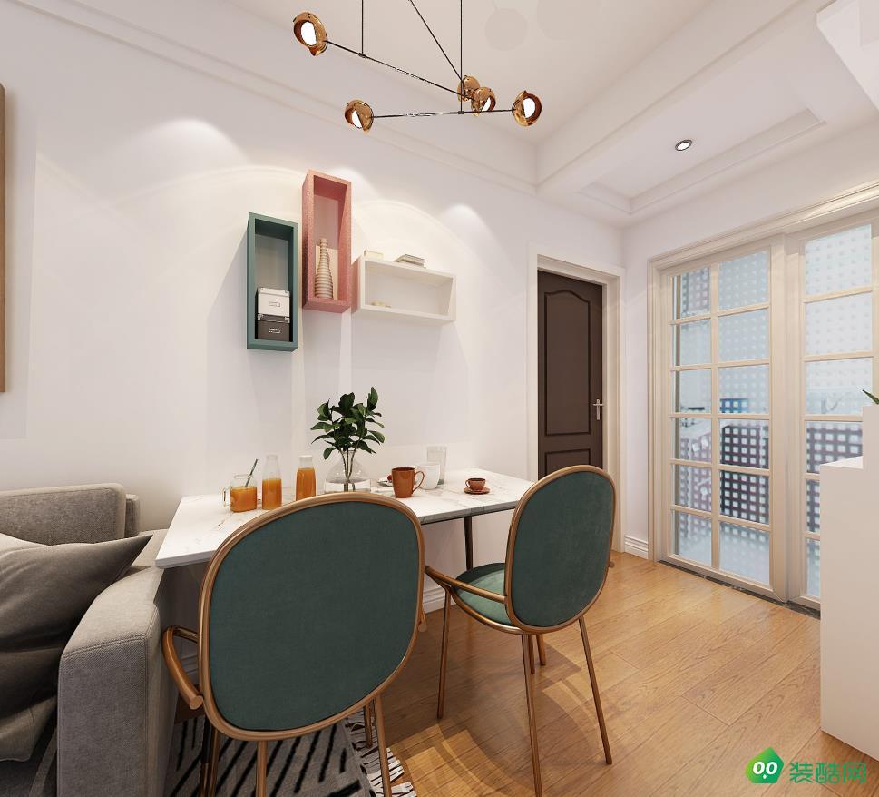 九創裝飾-64平兩居室北歐風格效果圖