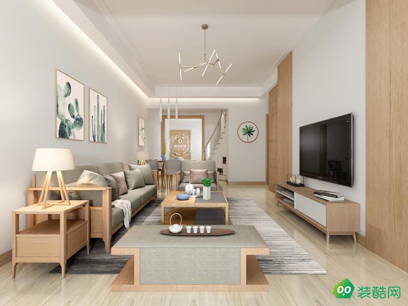 九創裝飾-89平三居室北歐風格效果圖