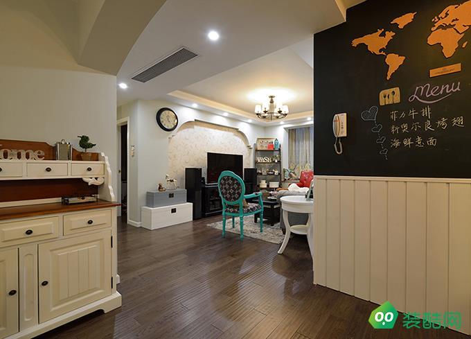 无锡120平米美式风格三室装修效果图