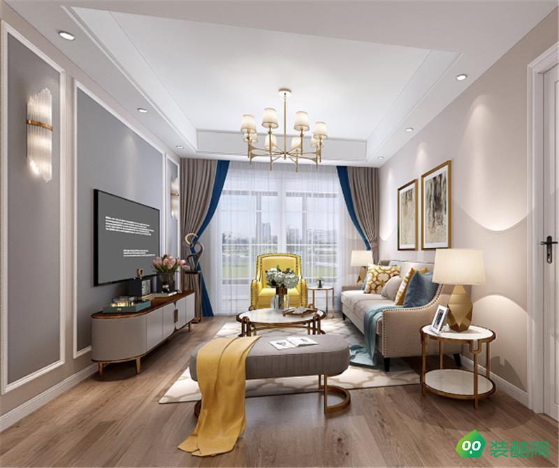 上海138平米美式风格三室两厅装修案例图片-向新空间装饰