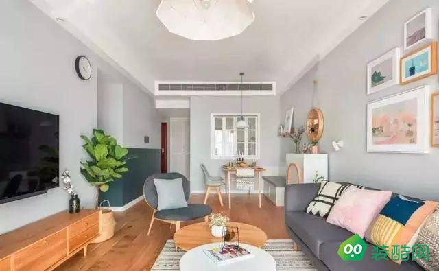 南京北歐風格二居室89平裝修案例