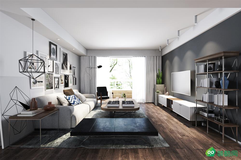 綿陽110平米現代風格三室兩廳裝修效果圖