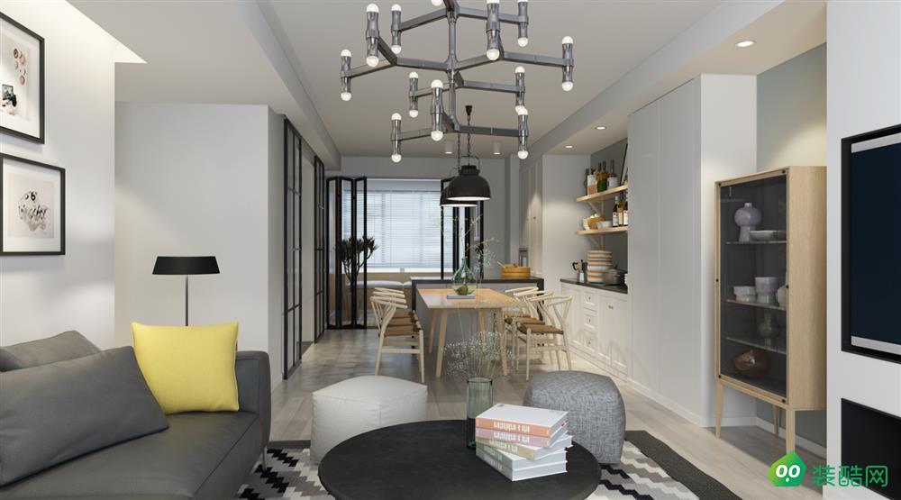 綿陽76平米現代風格兩室裝修效果圖