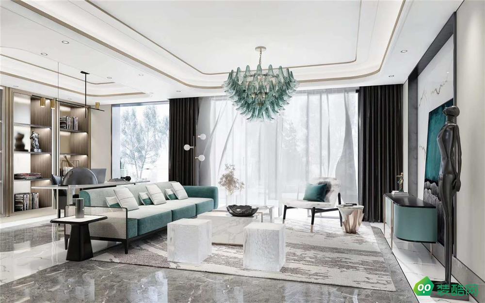 湘潭265平米現代輕奢風格五居室裝修效果圖-天中天裝飾