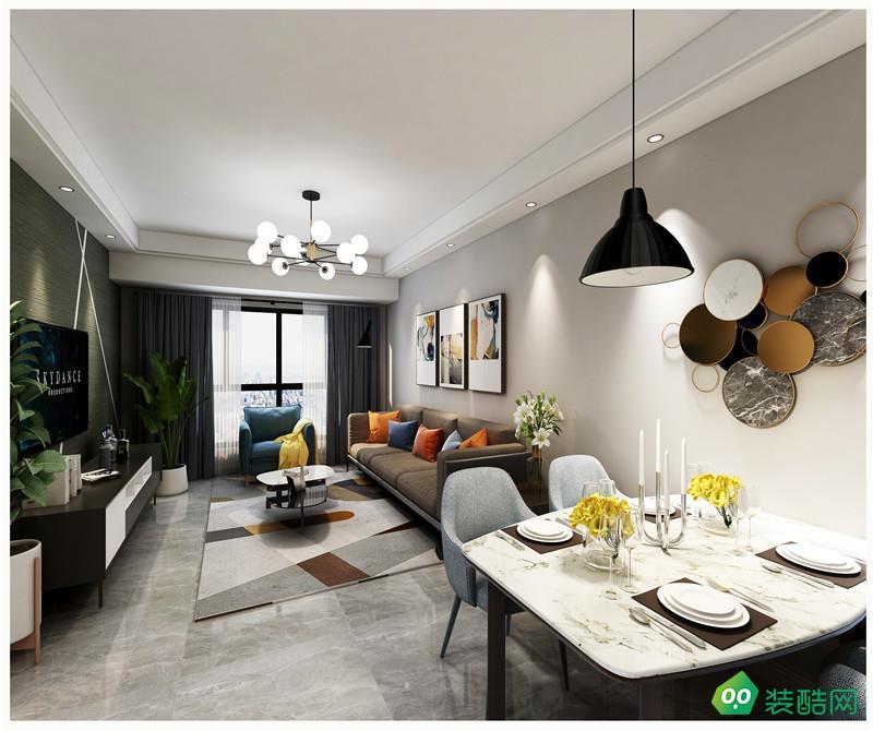貴陽現代風格三居室97平裝修案例
