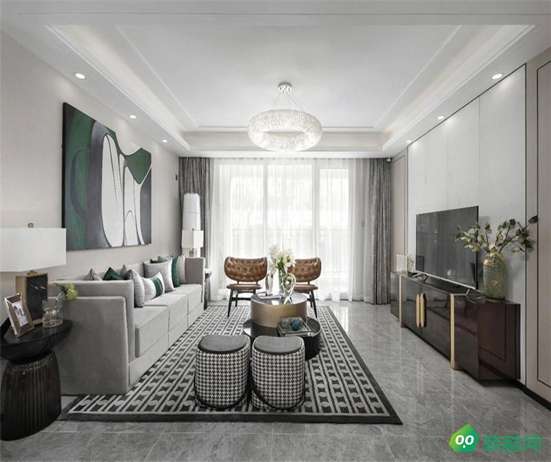重慶130平米現代風格三室兩廳裝修案例圖片-歐也裝飾