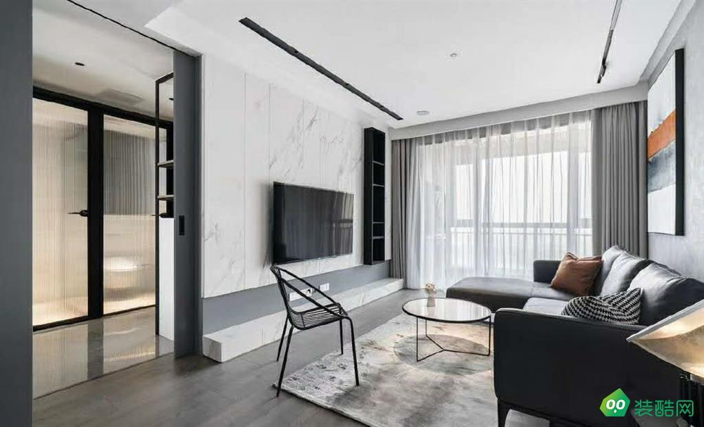鄂州98平米現代風格兩室兩廳裝修效果圖-廣緣裝飾