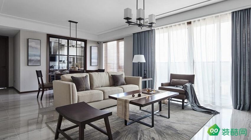 鄂州110平米現代風格三室一廳裝修效果圖-雅通裝飾