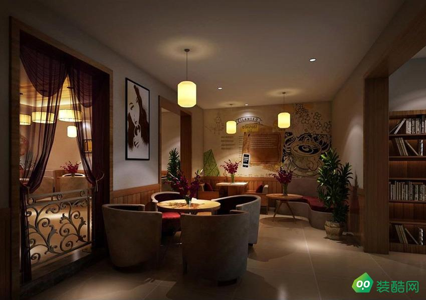 深圳主题咖啡厅现代风格330平装修实景案例