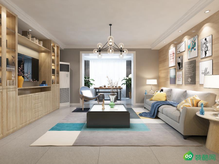 璧山120平米北歐風格三居室裝修案例圖片-云尚玉裝飾