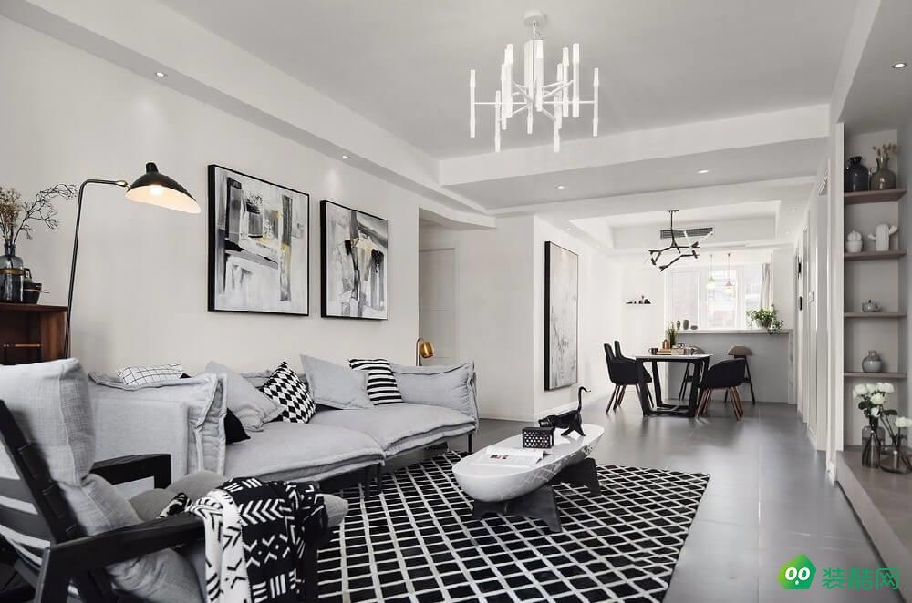 開封168平米北歐風格五室兩廳裝修效果圖-一禾裝飾