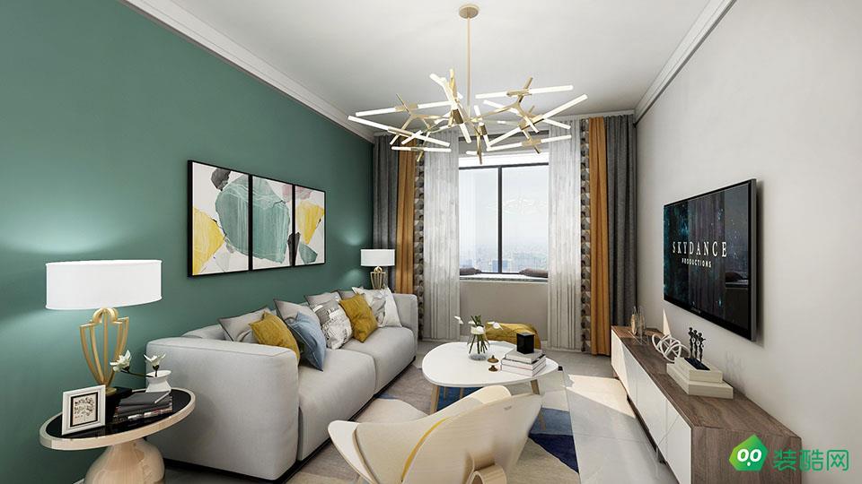 湘潭78平米北歐風格兩室一廳裝修效果圖-家博盛世裝飾