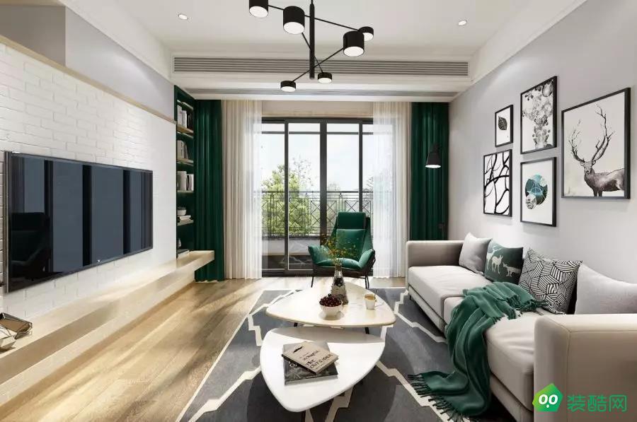 大連114平米北歐風格三室兩廳裝修案例圖片-博海裝飾