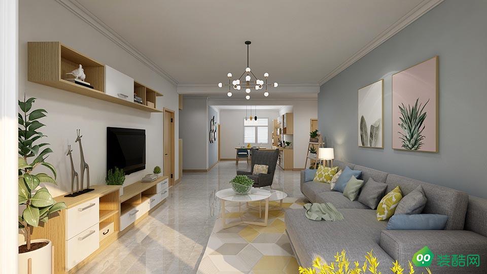 資陽160平米北歐風格四室兩廳裝修效果圖-多彩裝飾