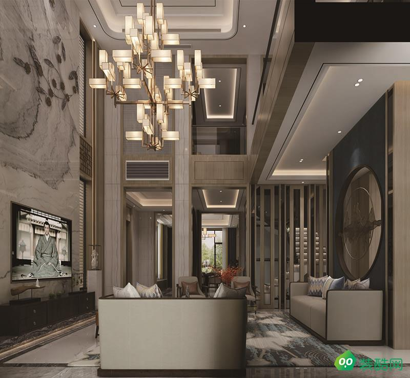 漢港凱旋城中式古典風格別墅裝修設計案例效果圖