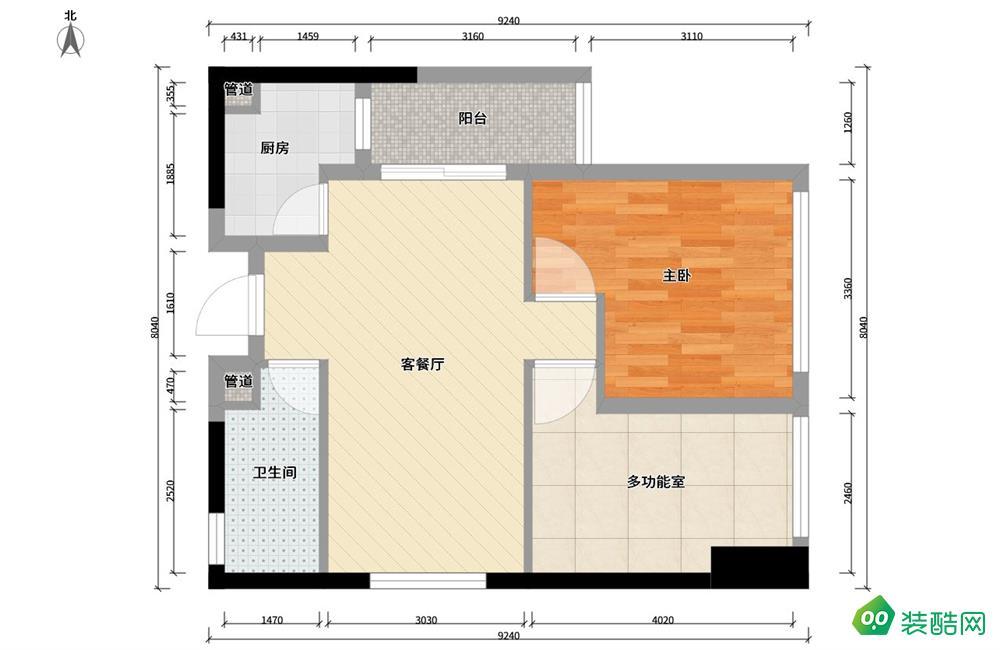 雅安-時尚北歐72平小資兩居室裝修