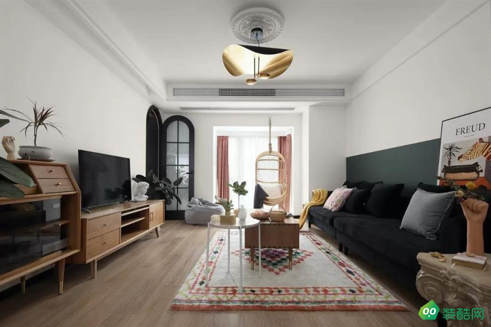 拉薩北歐風格三居室103平裝修案例