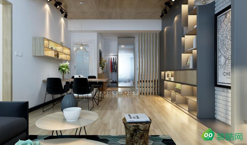 大足99平米北歐風格兩室兩廳裝修效果圖-森戀裝飾