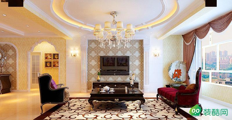 資陽142平米歐式風格三室兩廳裝修效果圖-名匠優品裝飾