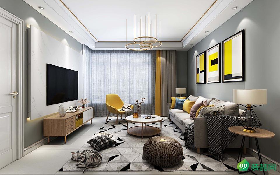 湘潭100平米歐式風格三室一廳裝修效果圖-裕興裝飾