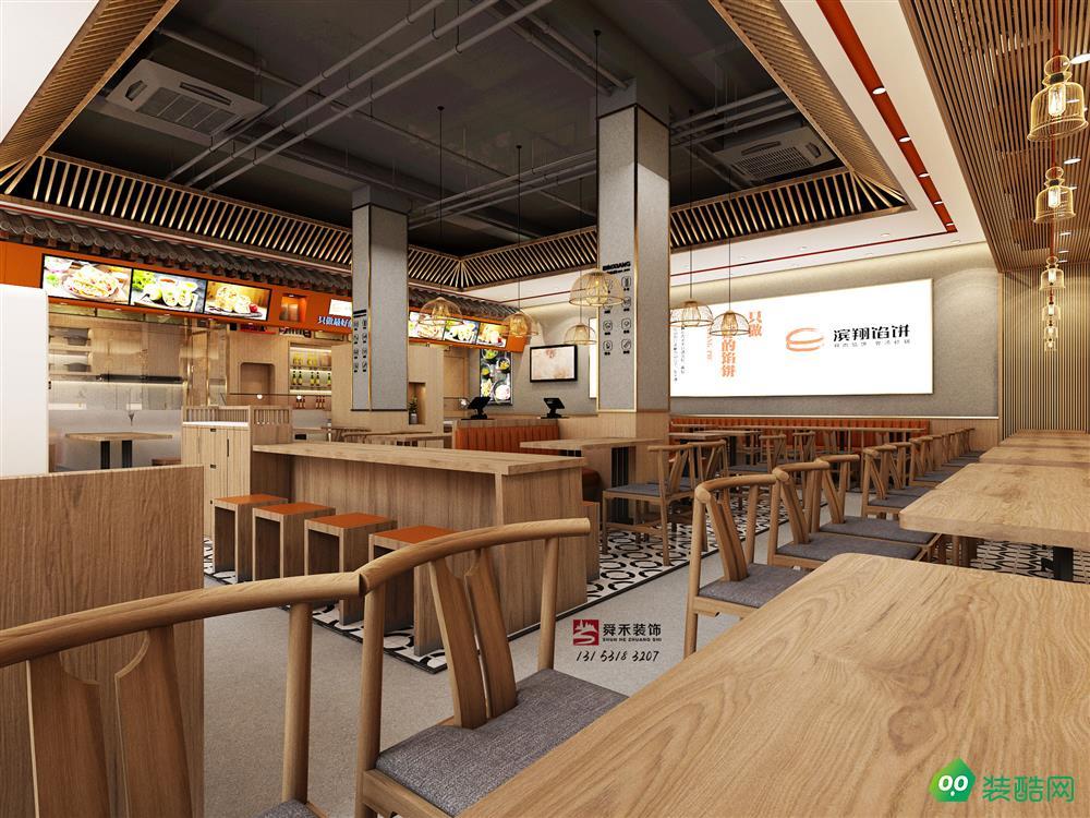 濟南中式餐飲水餃店餃子中式快餐裝修設計