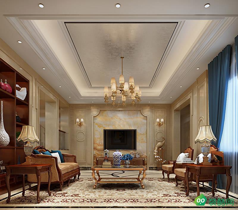 新力琥珀園別墅假裝設計案例效果圖歐式風格裝修